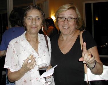 Nita Campos y Betty Gleicher