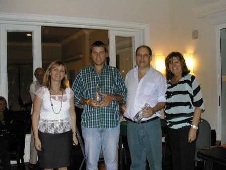 Parejas Fuerza Limitada, Guillermo Minutti y Danilo Doray, con Cuca Sonnenschein y Lucila Rinaldi