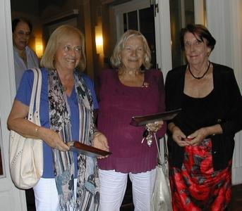 Teresa Sienra, Margarita Penadés y Delia Taccani