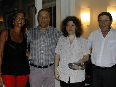Vivián Jacubovski, Bobby Martínez, Marta Lejbusiewicz y Carlos Zagarzazú