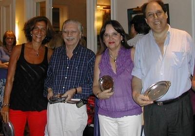 Vivián Jacubovski, Jorge Sandler, Margarita Echenique y Danilo Doray