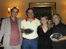 Mauricio Machado, Enrique casterán, Lucila Rinaldi. Marzo 2007