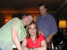 Nita Campos, Margarita Echenique, Hugo Carve. Diciembre 2005