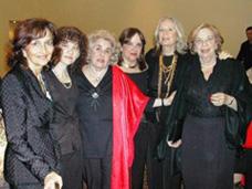Marta Raffo, Marta Lejbuciewicz, Loly Piñeyrúa, Margarita Echenique y Ana Cardozo. Sudamericano 2008