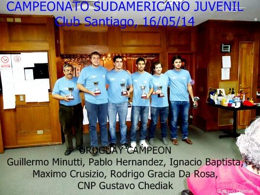Campeinos Juveniles Sudamericanos.